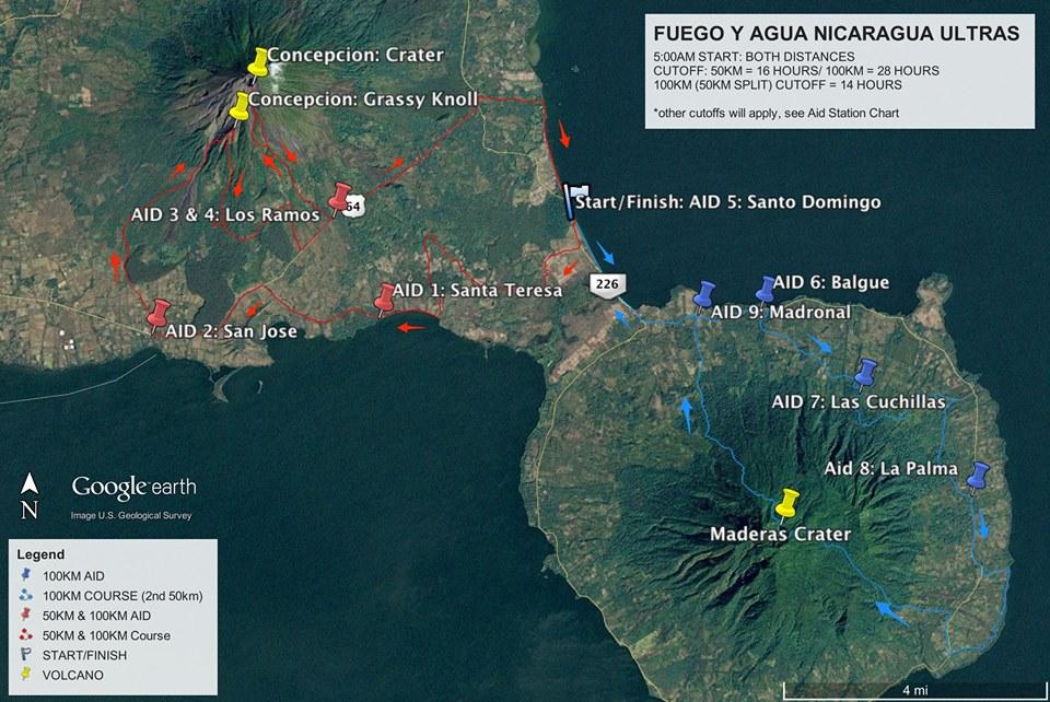 Fuego y agua Nicaragua Trail race 2016