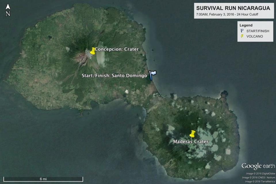 Fuego y Agua Nicaragua Survival Run