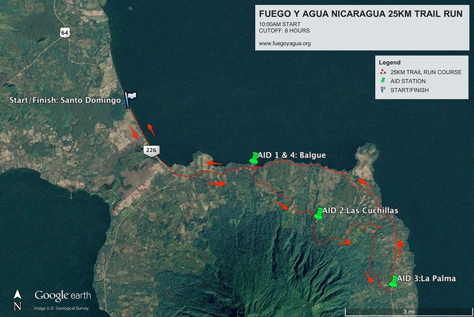 Fuego y agua Nicaragua trail race