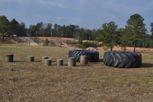 Gauntlet tires and concrete buckets