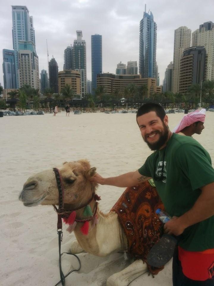 Luzzi in Dubai for Spartan Race