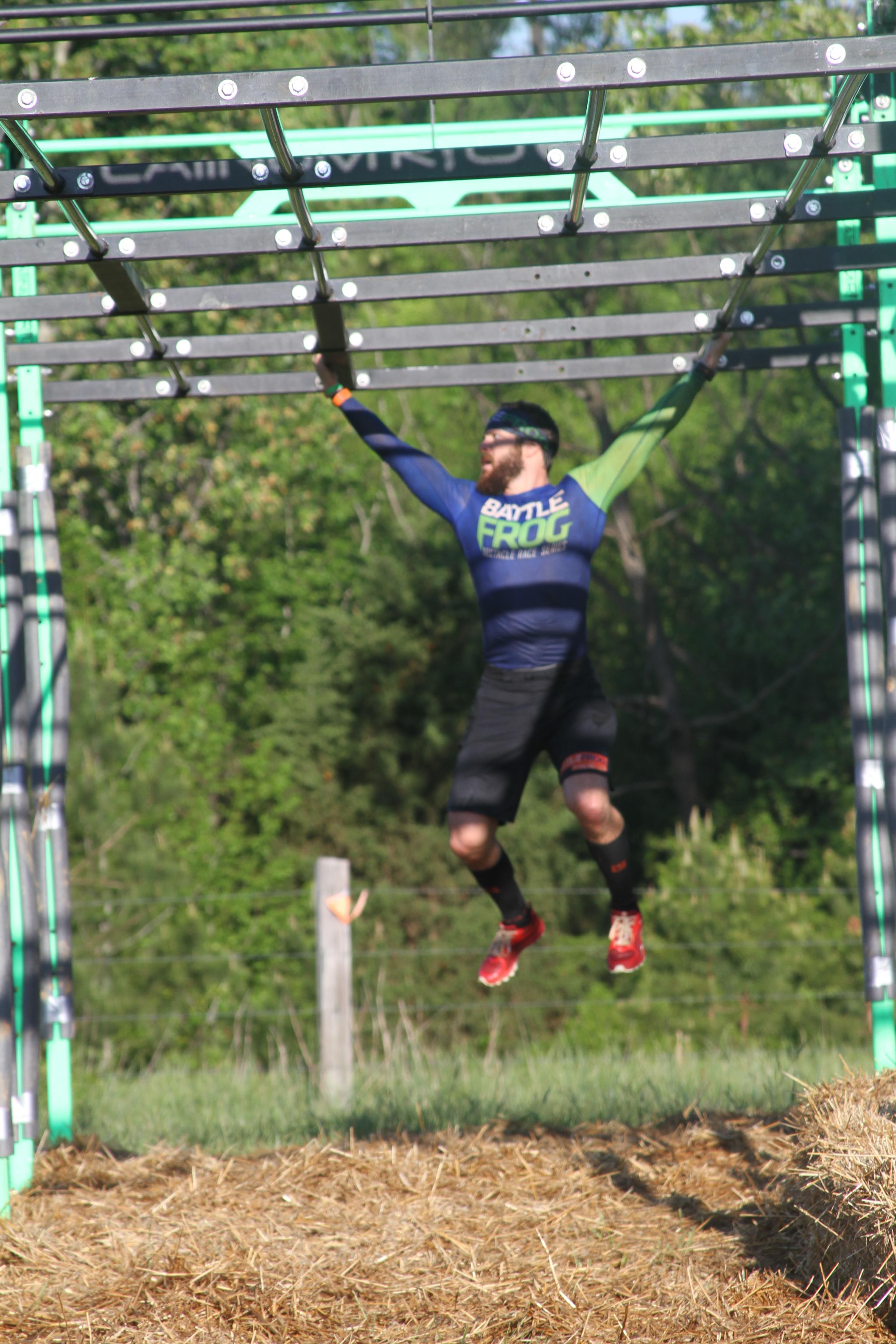 Marco Bedard crossing Platinum Rig 1 on Lap 2.