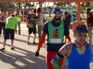 Dr. Red Tights Wesley Kerr rocking his Green WTM Sprint lap bib at BFX.