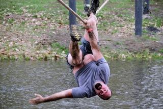 man on pond traverse