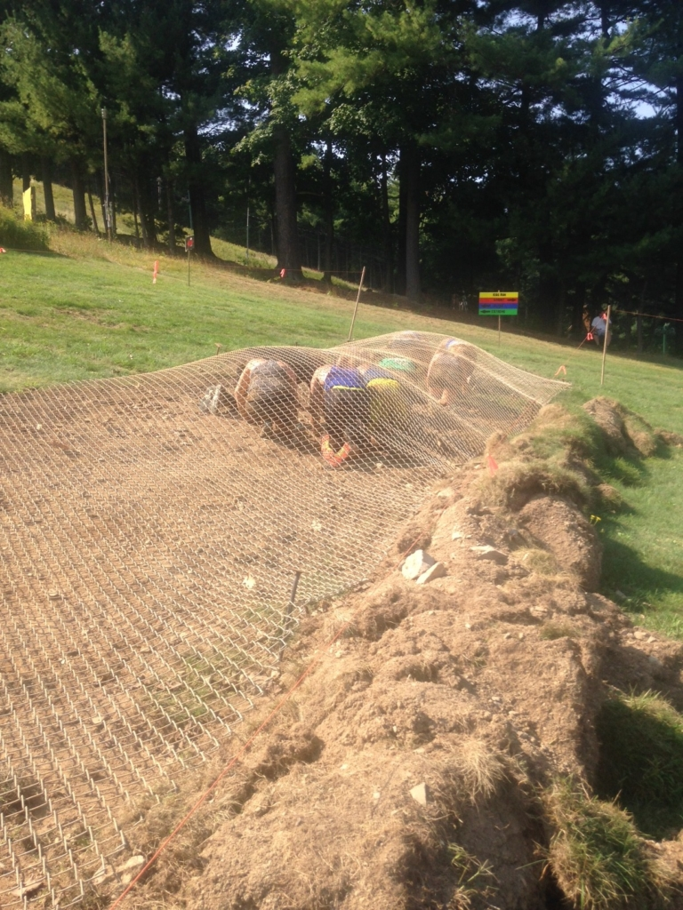Section two of the very challenging fence obstacle.