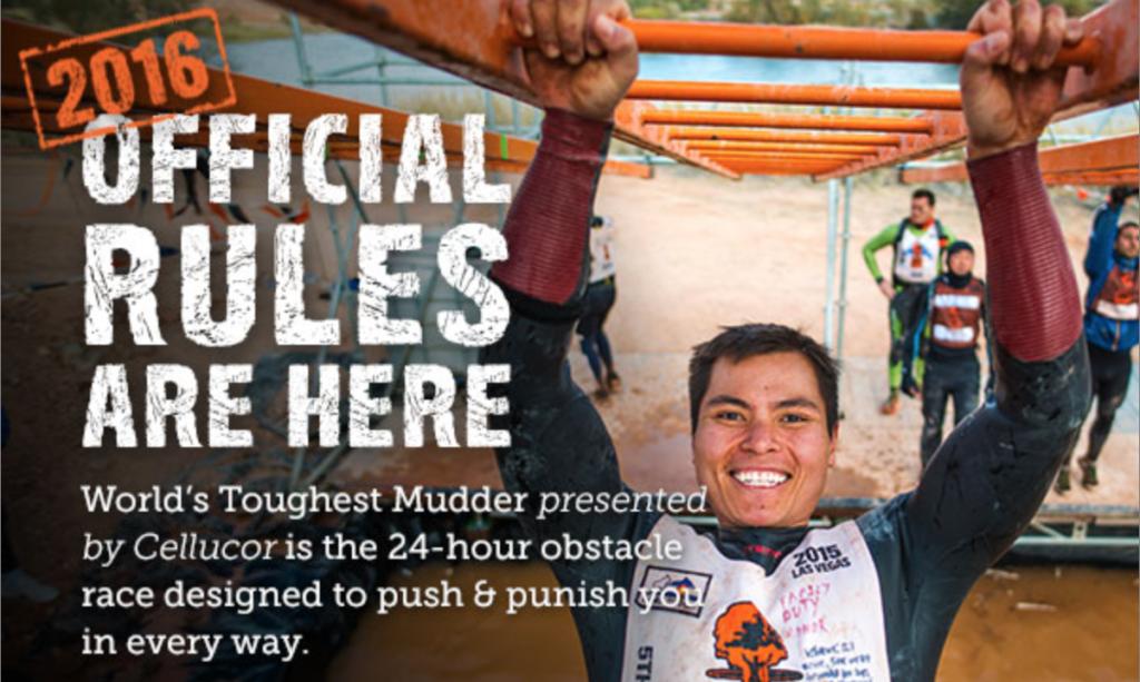 2016 Worlds toughest mudder final rules