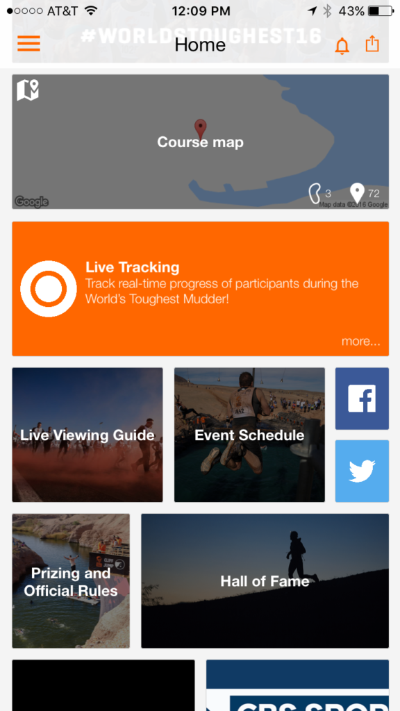 World's Toughest Mudder App