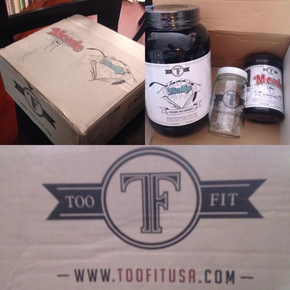 Too Fit shaker jar free as part of the event, their pre and post workout supplements are not.