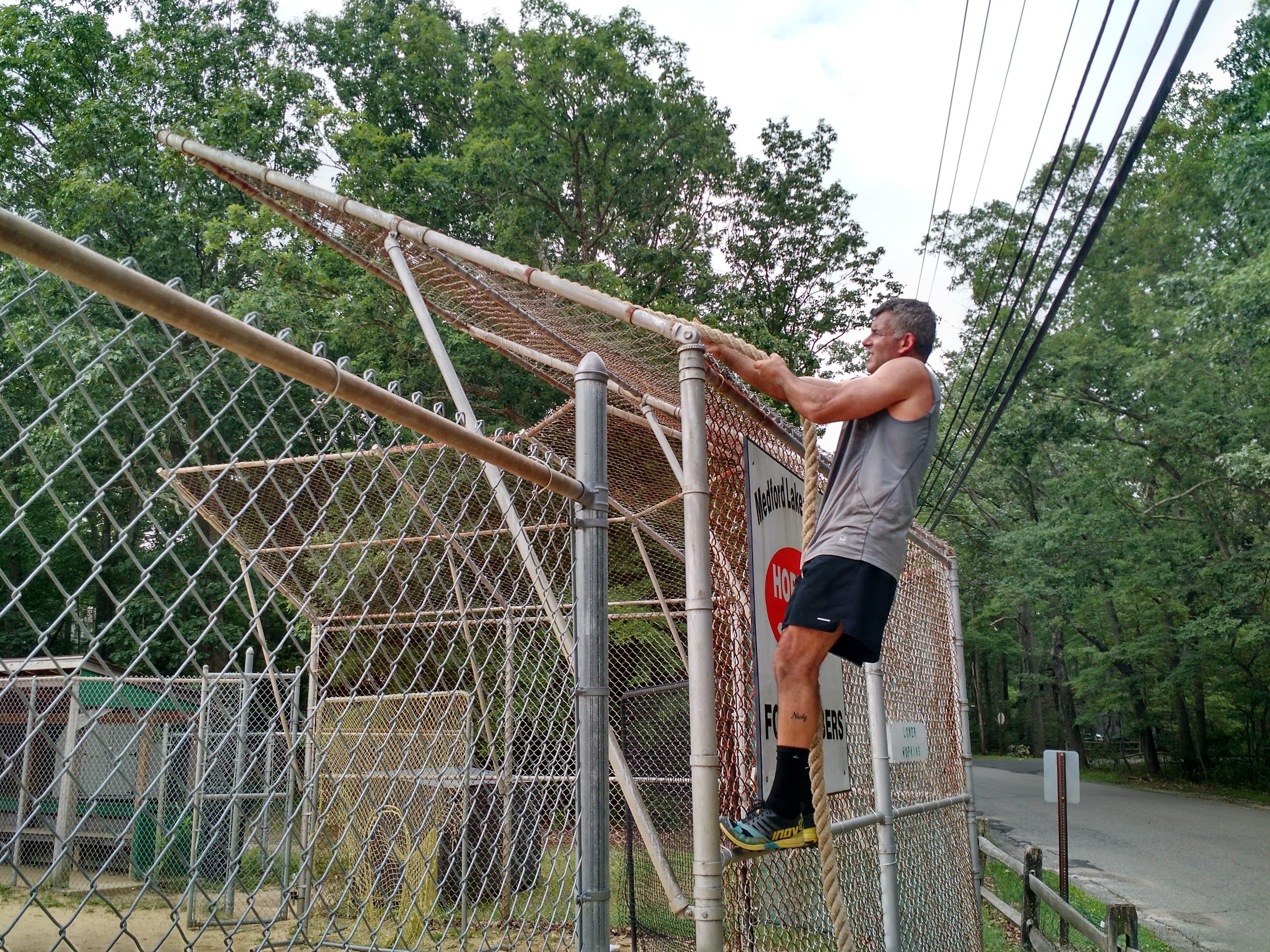 backstop rope climb