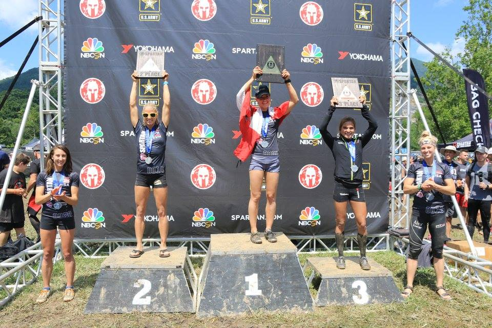 Spartan Race Asheville 2017 Women's Podium